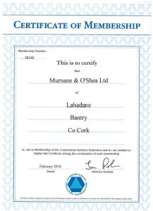 CIF Certificate of Memership 2016