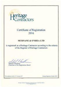 Heritage Contractors 2016